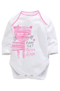 Buy Long Sleeve Perfect Cat Bodysuit (0mths-18mths) from the Next UK online shop