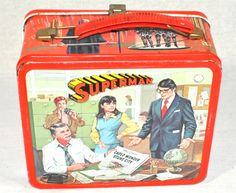 ... and Games / Vintage Lunch Boxes / Vintage Superman Metal Lunch Box