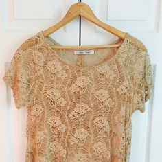 OFFERS WELCOME NWOT This top is so cute and was never worn! There are no pulls on the lace, it's in excellent condition! The back is buttoned half way and then is open panel from the mid back down. OFFERS WELCOME! Tops