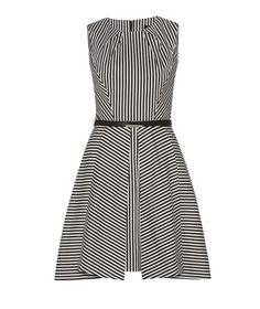 CUE - Stripe Angled Pleat Dress
