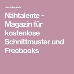 Nähtalente - Magazin für kostenlose Schnittmuster und Freebooks