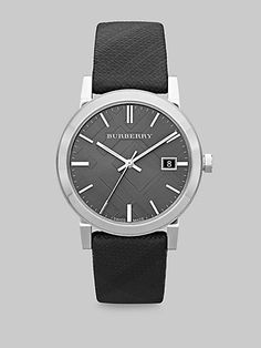 Burberry - Check Strap Stainless Steel Watch - Saks.com