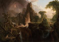Expulsion from the Garden of Eden - Cole, Thomas (American, 1801 - Fine Art Reproductions, Oil Painting Reproductions - Art for Sale at Galerie Dada Artist Canvas, Canvas Art, Dragons, Kunsthistorisches Museum, Hudson River School, Google Art Project, Garden Of Eden, Art Graphique, Museum Of Fine Arts