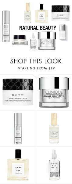 """skincare"" by carolinecorradine ❤ liked on Polyvore featuring beauty, Gucci, Couture Colour, Clinique, Mullein & Sparrow, Herbivore, Bobbi Brown Cosmetics, Beauty and skincare"