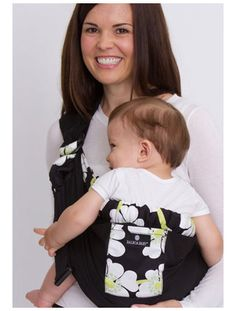 Balboa Baby Adjustable Sling - Black with Lime Poppy Trim -- http://store.llli.org/images/products/740_large.jpg