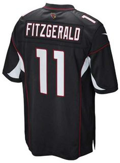 The men's Nike NFL Game jersey will be the only one you choose to wear while you cheer on your Arizona Cardinals. The jersey is inspired by what Larry Fitzgerald wears on the field and designed for movement and a light soft feel. V-neckline with TPU shield at collar Pullover style Short sleeves Screen print graphics Woven jock tag at hem Tailored fit Officially licensed NFL product Nike on-field apparel Polyester Machine washable