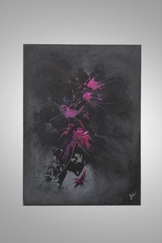 tableau abstrait contemporain wonder red http://www.ju-tableaux-contemporains.com/tableau-abstrait-rouge-et-noir-wonder-red/
