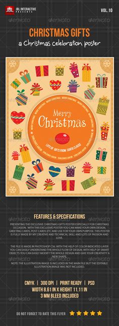 Christmas Gifts Poster from Santa Claus