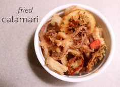 Remember when I mentioned that I casually made some calamari as an appetizer to my Spicy Thai Seafood Soup? I know what you're thinking – is frying calamari really that ca… Fried Calamari, Seafood Soup, Spicy Thai, Allrecipes, Fries, Appetizers, Simple, Ethnic Recipes, Casual