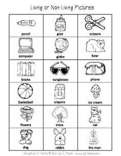 math worksheet : 1000 images about living nonliving on pinterest  living and  : Living And Nonliving Worksheets Kindergarten
