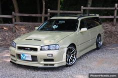 Starting at the front it looks like a beautiful Nissan Skyline GTR wagon in Bayside Blue. 2015 Nissan Gtr, Nissan Gtr R34, Nissan Gtr Skyline, Tuner Cars, Jdm Cars, Sports Wagon, Shooting Brake, Japanese Cars, Modified Cars