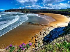 Langre Beach in the region of Cantabria Spain