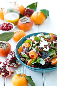 Bright and Colorful Winter Salad Recipe with Citrus Vinaigrette, Goat Cheese, and Candied Pecans