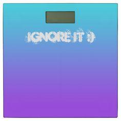 Ignore it :) Bathroom Scale by www.zazzle.com/htgraphicdesigner* #zazzle #gift #giftidea #bathroom #scale #purple #humor #humour