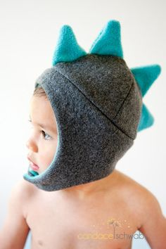 Eep, world's cutest (and warm!) fleece dinosaur winter hats for babies that we found from a great maker on Etsy.