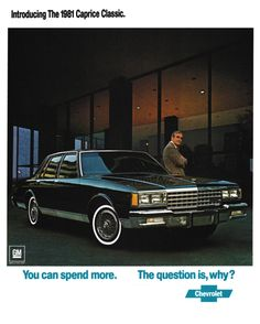 1980 Advertisement for the '81 Chevrolet Caprice Classic