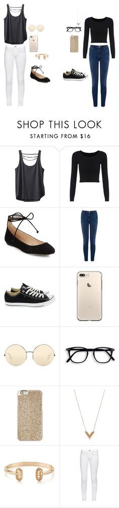 """friends"" by vitoria-esther ❤ liked on Polyvore featuring beauty, Kavu, Karl Lagerfeld, Warehouse, Converse, Victoria Beckham, Michael Kors, Louis Vuitton, Kendra Scott and rag & bone"