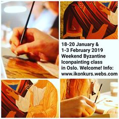 Weekend Byzantine Icon Painting Course! 18-20 January & 1-3 February 2019. Information: www.ikonkurs.webs.com & byzantineiconpainting@gmail.com  Velkommen til helgekurs i bysantinsk ikonmaling! 18.-20. januar & 1.-3.februar 2019. Informasjon: www.ikonkurs.webs.com & byzantineiconpainting@gmail.com Painting Courses, Byzantine Icons