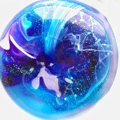 Glitter slime // galaxy slime // stretchy slime // sensory toy
