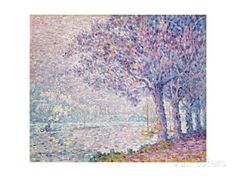The Seine at St. Cloud Giclee Print by Paul Signac at AllPosters.com