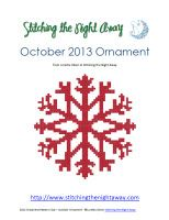 onbe of the snowflakes in the big ornament club package bundle of patterns available at Stitching the Night Away