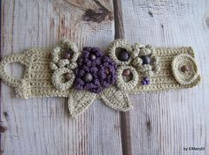 Crochet Necklace from natural materialorv For Her Gift