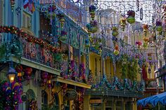 I would love to be in New Orleans Square at Christmas time.