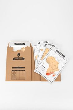 Travelogue Journal Kit.  So cool! you scratch off to show countries and cities that you've been to!