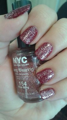 """NYC """"Pink Bling"""" (topper)/CoverGirl """"Wine to Five"""""""