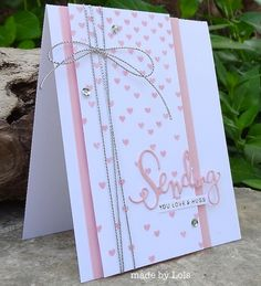 Love this card by Lols using the New Falling Hearts by Simon Says Stamp.