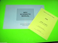 Bally Williams WPC NOS Pinball Machine Schematic Manual 1995 Creature Dracula TZ…