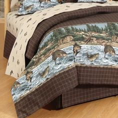 Wildon Home® River Fishing 4 Piece Sheet Set Size: Queen Mens Bedding Sets, Cheap Bedding Sets, Cheap Bed Sheets, Bedding Sets Online, Queen Bedding Sets, Comforter Sets, Luxury Duvet Covers, Luxury Bedding Sets, Bed Duvet Covers