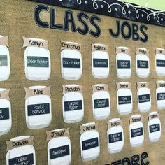 Giving students jobs may seem arbitrary, however I think it is a great idea because it makes students feel needed. It also sets an expectation that all day they are to fulfill their job. Classroom Decor Themes, Classroom Design, Classroom Organization, Classroom Ideas, Classroom Birthday Displays, Classroom Birthday Board, Classroom Jobs Display, Classroom Job Chart, Classroom Layout