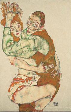 Lovemaking, 1915 Pencil, gouache on paper, 49,6 × 31,7 cm, Leopold Museum, Vienna, Inv. 1419, Photo: Leopold Museum, Vienna