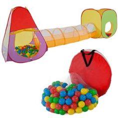 Tente Enfants/Cubique + Tunnel + 200 Balles + Sac Tectake