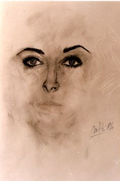 """""""Elizabeth Taylor"""" by Massimo Maffei 1984 Elizabeth Taylor, Rome, Studio, Drawings, Artist, Pictures, Painting, Photos, Artists"""