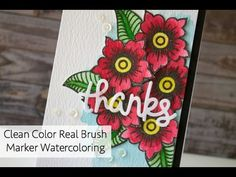 Tracy Mae Design: Watercoloring with Zig Clean Color Brush Markers, Altenew, Lawn Fawn