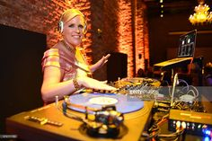 DJ Mad Marj performs during the Venetian Heritage And Bulgari Gala Dinner at Cipriani Hotel on May 9, 2015 in Venice, Italy.