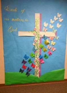 sunday school bulletin board Craft Easter Christian Bulletin Boards 64 Ideas For 2019 Catholic Bulletin Boards, Easter Bulletin Boards, Christian Bulletin Boards, Preschool Bulletin Boards, Bullentin Boards, Diy Niños Manualidades, Image Jesus, Diy Ostern, Sunday School Crafts
