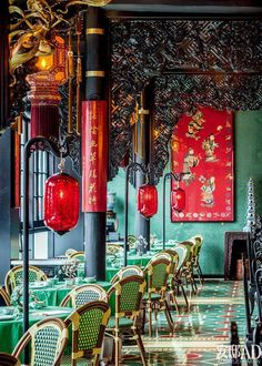 The Beauty of Complexity. In the Song, Ming literati aesthetics to become the mainstream of today's Chinese style today, the reputation of the Eight Immortals around the sword, to the century oriental style, to create this amazing marinite restaurant. Restaurant Oriental, Tea Restaurant, Chinese Restaurant, Restaurant Owner, Vietnamese Restaurant, Asian Interior Design, Asian Design, Interior And Exterior, Chinese Bar