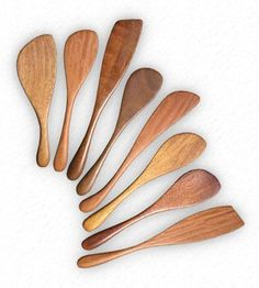 Wooden stirrers - spurtle - spatula - spraddle - in Australian hardwoods for your home, your kitchen - great for entertaining and dinner parties. Wood stirrer by Bob Gilmour, Forest Treasures, Port Douglas, Australia. #Woodenspoons
