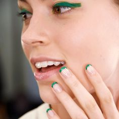 Nail Art Alert:You Have to See These Snakeskin Manicures | from InStyle.com