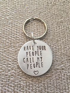 Dog ID Tag - Have your people call my people - Dog Tag by HandToHeartJewelry on Etsy https://www.etsy.com/ca/listing/270256543/dog-id-tag-have-your-people-call-my