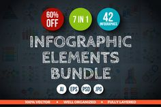 60% OFF Infographic Elements Bundle by Abert on @creativework247