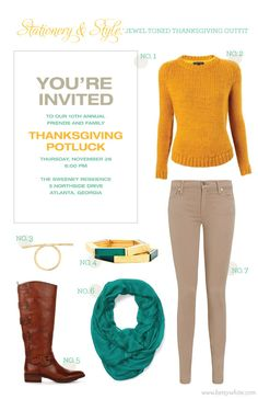 Stationery & Style: Jewel-Toned Thanksgiving Outfit
