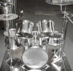 Stainless Steel Drum Kit Memorial.
