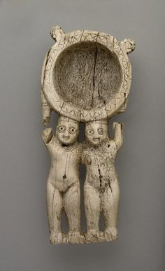 ancientpeoples:    Cosmetic ladle  Made from Ivory  Late Babylonian  700-600 BC  (Source: The British Museum)
