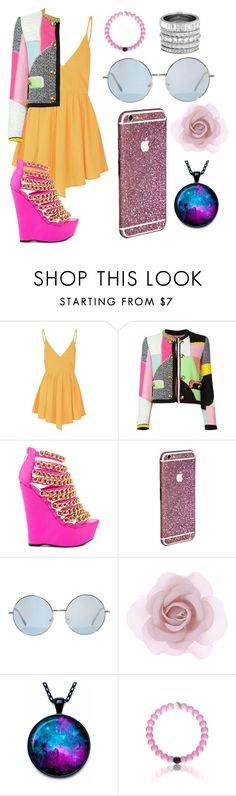 """""""*^& Hello Love"""" by wont-stop-loving-queen-rydel ❤ liked on Polyvore featuring Glamorous, Moschino, Nelly Bernal, Accessorize, Henri Bendel, women's clothing, women, female, woman and misses"""