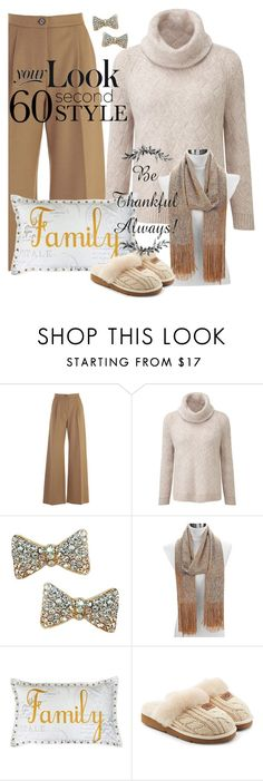 """""""Fun with Family"""" by shoppe23 on Polyvore featuring Erika Cavallini Semi-Couture, Thro, UGG, thanksgiving, familydinner and Shoppe23"""