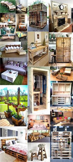 Build Household Items with Reused Shipping Pallets